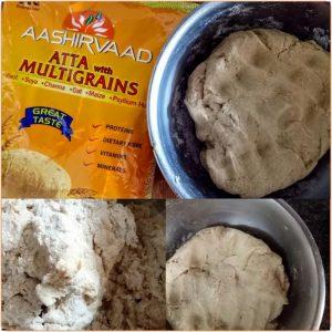 Dough of Aashirvaad Multigrain atta