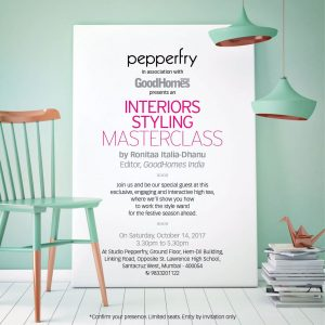 Pepperfry studio invite