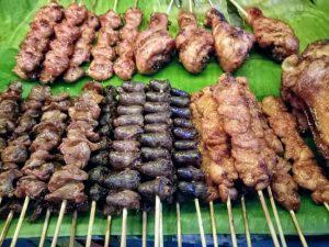 Thai grilled pork skewers