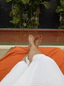 pool chair at radisson hotel