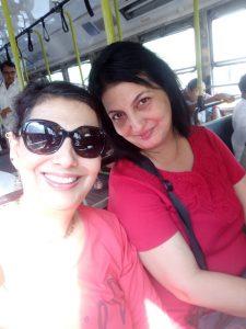 Selfie in the BEST Bus