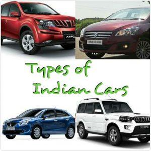 types of indian cars