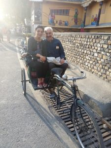 Cycle Rickshaw ride with hubby