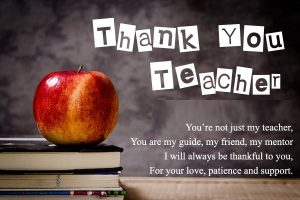 Thank you teachers