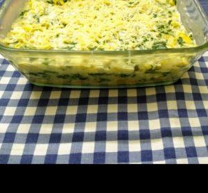 Corn spinach bake