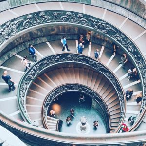 Vatican City Museum staircase