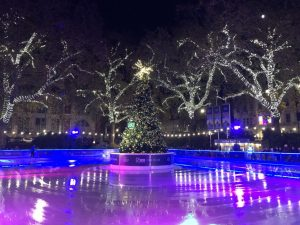 Ice skating Xmas in London