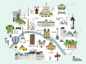 Map of paris major tourist attractions