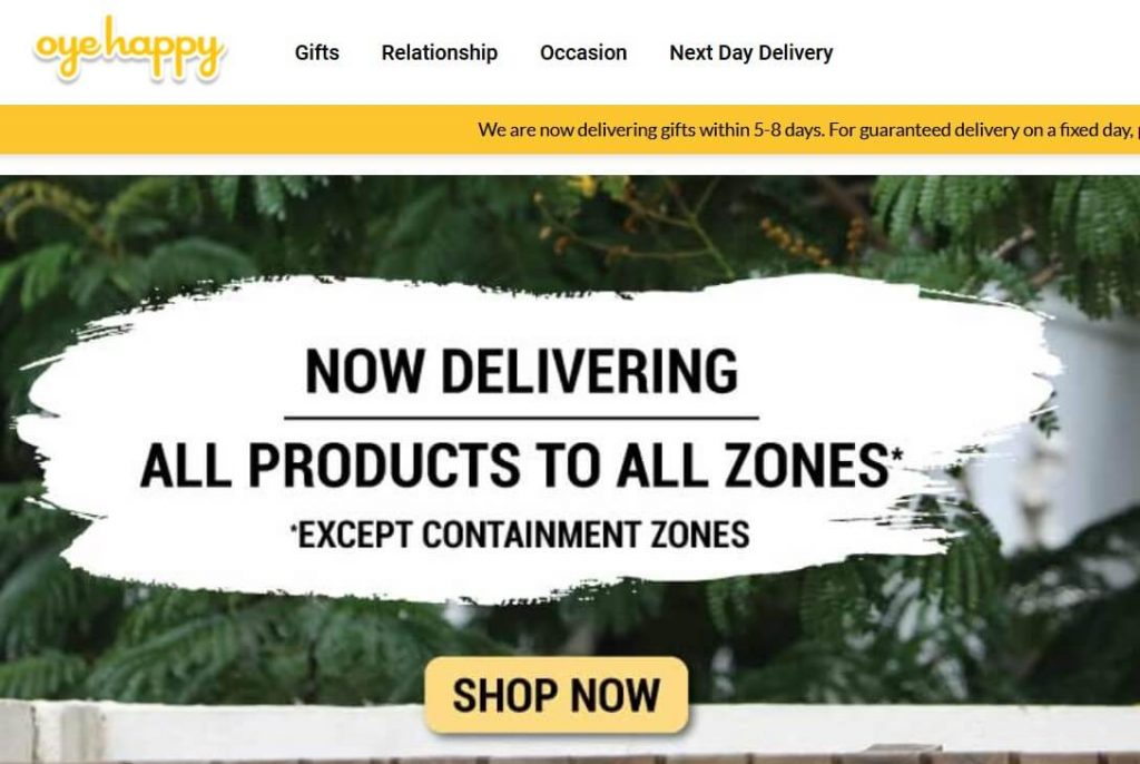 OyeHappy - the online gifting portal